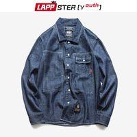 Lappster-Youth Men Denim 2020 Harajuku Vintage Jeans T Shirts Hombre diseñador Primavera Coreano Hip Hop Ropa Q0109