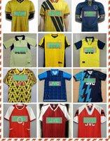 1990 1992 Highbury Home Camicia da calcio Jersey Soccer Pires Henry Reyes 2002 Retro Jersey 2005 98 99 Bergkamp 94 95 Adams Persie 96 97 Galla