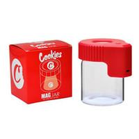 Çerezler Mag Kavanoz LED Işık Tütün Konteyner ile Cam Durumlarda Kavanoz Dab Balmumu Depolama Kuru Herb Haddeleme Sigara Şarj Edilebilir Tıp Şişesi