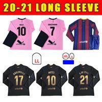 2020 Nova Jersey Jersey Griezmann F. de Jong Coutinho Pjanic Trincão O. Dembélé Piqué 20 21 Manga Longa Camisa de Futebol de Alta Qualidade