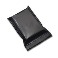 Mini Black Zip Lock Opaque Plastic Bag Reclosable Ziplock Packing Pouch Self Seal Package Bags Plastic Accessories Pack Bags