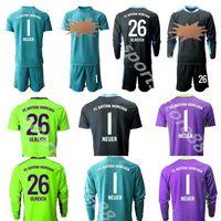 1 kahn portero gk portero manga larga adultos 1 Kahn Soccer Jersey Set 1 Neuer 26 Ulreich Football Football Kits