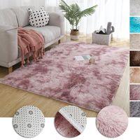 Alfombras de alfombra de alfombra tinteing peluche suave para sala de estar dormitorio alfombras antideslizantes antideslizantes Estilo nórdico Absorción de agua Rugs1