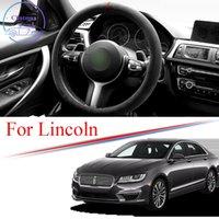Alcantara Car Steering Wheel Cover Suede Trim Strip for LINCOLN MKC MKX MKZ CONTINENTAL AVIATOR Universal 38cm 15Inches Interior Accessories