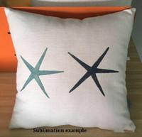 16x16 pouces Coussin d'oreiller en lin de poly de drablier pour bricolage sublimation plaine Coussin Coussin Coussin de broderie