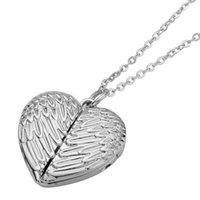 50pcs Sublimazione a forma di cuore collana angelo ali gioielli per la stampa del trasferimento di calore Pendente personalizzato fai da te con foglio in alluminio vuoto