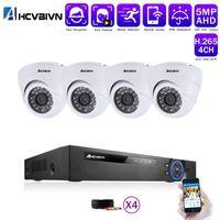 كاميرا كاميرا CCTV كيت 4ch hd 5mp ahd الأمن كاميرا dvr كيت في الهواء الطلق cctv ماء المنزل نظام المراقبة الفيديو مجموعة 2T HDD1