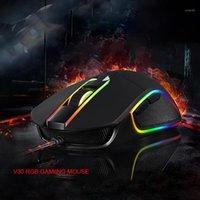 MICE DORE V30 Мышь Gaming 3500 DPI 6 Кнопки Проводной RGB Облегчает Эргономичное для ноутбука PC Mini Black1