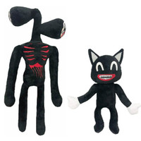 Anime Siren Head Plush Toy Legends Of Horror Black Cat Stuffed Doll Juguetes Sirenhead Peluches Toys for Children Gifts