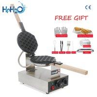 Ekmek Makineleri Ticari Elektrikli 110 V / 220 V Yapışmaz Tava Yumurta Kabarcık Waffle Makinesi Eggettes Puf Pastası Demir Makinesi Fırın