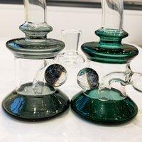 Wasserhaare New Bong spezielle glänzende Kugel entworfene DAB-Rigs Hochwertige Glas Wasserleitung mit Schüssel kleiner Bubbler