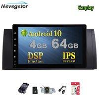자동차 DVD 플레이어 9 ''1024x600 HD 터치 스크린 1 DIN Android 10 멀티미디어 라디오 스테레오 E39 E53 X5 WiFi 4G Bluetooth DVR RDS USB