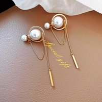 JUWANG 5 Pairs Vintage Piercing Earring For Women Luxury Korean Style Long Tassel Stud Earrings Fashion Jewerly Pendientes Mujer