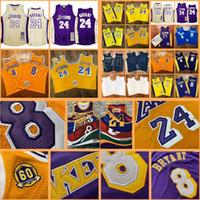 Maglie da basket da uomo LosAngeles.Lakers.Kobe.Bryant.Mitchellness 96-97 00-01 07-08 08-09 09-10 Hardwoods Classics Jersey