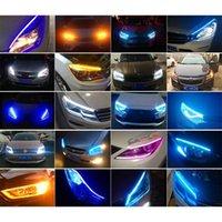 Interioreksternal Işıklar 2x Ultraine Arabalar DRL LED Gündüz Koşu Beyaz Dönüş Sinyali Sarı Kılavuz Şerit Far Montaj Bırak 1