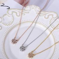 Spedizione gratuita in oro reale / argento / rosa placcato oro piena collana pendente a ciondolo lungo chian regalo di marca