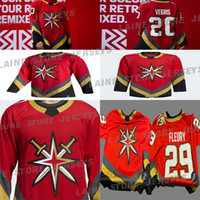 Vegas Goldene Knights 2020-21 Reverse Retro Jersey 61 Mark Stone 29 Marc-Andre Fleury 71William Karlsson 81 Marchessault Hockey-Trikots