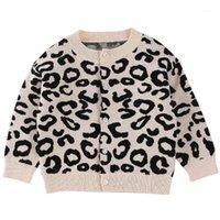 2020 мальчиков и девочек осенний леопардовый свитер вязаный кардиган детская обучение одежда детская куртка повседневная куртка1