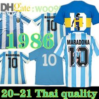 86 Maradona Retro 1981 BOCA Juniors Neapel Maradona 1978 1986 Maradona Fussball Jersey Football Hemd Klassische Gedenken Stildruck