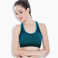 Abbigliamento da palestra Jigerjoger Gilet senza soluzione di continuità Gilet Sport Biancheria intima Yoga fitness BRA1