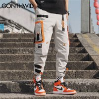 Gonthwid multi bolsos Cargo Harem Jogger calças Homens Hip Hop Moda Casual Track Calças Streetwear Harajuku Hipster Sweatpants LJ200827