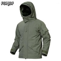 Vestes pour homme FGHGF G8 Windbreaker Hommes Hiver Warm Fleece imperméable Manteau Tactique Manteau Homme Capuche Épais Armée Vêtements 3XL1