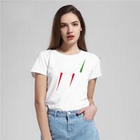 Frauen T Shirts Buchstaben gedruckt Tees Sommer Mode Klassische Kurzarm Atmungsaktive Qualität Tops Lose T-Shirts