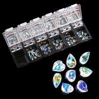 1 Box Transparente Kristall AB Glas Strasssteine für Nägel 3D Strass Glitter Schmuck Nagelkunst Dekorationen