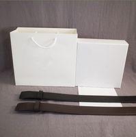 Moda Cinturón de cuero hombre mujer cinturones de hebilla suave cinturón negro y marrón ancho 38mm dorado pistola astilla negro hebilla superior calidad con caja