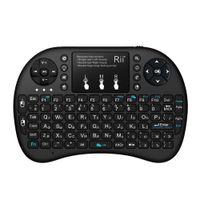 RII I8 + Rus Bluetooth Kablosuz Mini Klavye Lityum Pil Arka Işık Hava Fare Uzaktan Kumanda Touchpad Mini PC, TV Kutusu LJ200922