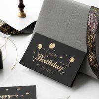 black bronzing greeting card thank you happy birthday I love you print wedding invitations + envelope card holiday blessing card GWA2458