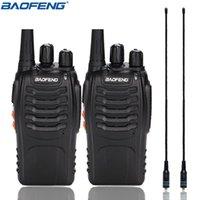 2pcs Baofeng BF-888S Mini Walkie Talkie Portable Radio CB Rádio BF888S UHF Comunicador Transmissor Transceptor + Na-771 Antena
