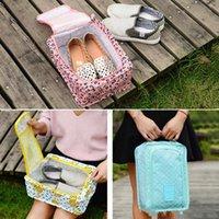 Viagem multifuncional Sapatos dobráveis Saco Cosmético Bag Organizador Organizer Home Improof Improof Impermeável Sapatos Impresso Sacos Para Armazenamento