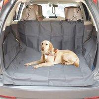 SUV جذع مقعد غطاء مطبوعة أسود للماء أكسفورد القماش pet وسادة الكلب سيارة حصيرة منصات LJ201028