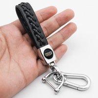 Keychains Autoteile Hohe Qualität Mode Business Leder Geflochtene Seil Keychain Für Cadillac- CT4 CT5 CT6 XT4 XT6 LYRIQ Escalade Sevilla1