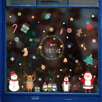 ev duvar Cam Çıkartma Yılbaşı Ev Çıkartmaları Dekor doğum Noel için 2020 Merry Christmas Pencere çıkartmaları Noel süslemeleri
