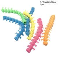 جديد اللعب الملونة مرونة tpr unzip حبل دودة caterpillar الاطفال خدعة تخفيف الضغط لعبة الأطفال المزحة اللعب