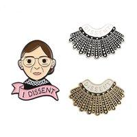 나는 rbg 에나멜 핀 맞춤 블랙 브로치 셔츠 옷깃 가방 루스 Bader Ginsburg 배지 여성 정의 쥬얼리 선물 ZDL1015.