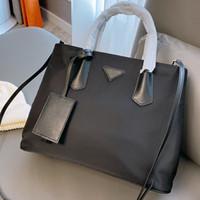 Hohe Qualität 2020 Neue Einkaufstüten Totes Mode Taschen Nylon Tuch mit Leder Handtaschen Umhängetaschen
