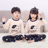 2020 Invierno Niños Algodón Pijamas Set Baby Girl Ropa Niños Dibujos Animados Ropa de dormir Pijama Enfant Boys Pijama Niño Inflante Nightwear1