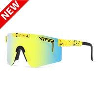 Pit Viper Sport Sunglasses Homens Públicos Públicos Públicos TR90 Frame UV400 Proteção Lente Espelhada