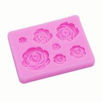 DIY Handmade Sabonete Molde de Chocolate Silicone 3D Rose Flores Forma Cozimento Moldes Bolo Decoração Moldes 2 Cores Puras 1 98TY E1