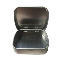 2021 Nouvelle petite taille Charnière Boîte à étain carré Scole Scelling Scelling Coffret
