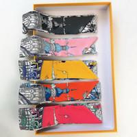 새로운 원래 타로 편지 핸드백 실크 스카프 가방 핸들 묶여 가방 리본 작은 스카프 여성 머리띠 도매