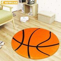 Ковры Rfwcak Round Basketball для ковриков для гостиной и домашнего детского матного оформления1