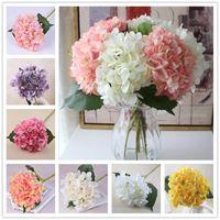 16 farben 47 cm weiße hortensie künstliche dekorative blumen gefälschte seidenkugel führung für hochzeit dekoration party home