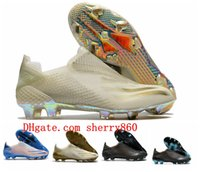 2021 جودة أحذية رجالي كرة القدم x ghosted fg ag المرابط أحذية كرة القدم الأسود الأزرق scarpe calcio