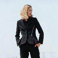 Oberbekleidung Jacke Blazer Frauen Elegante 2019 Schwarz Blazer Femme Vintage Gothic Hut Büro Dame Chaqueta Vintage Frau Kleidung 0261