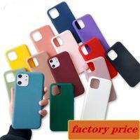 2021 Ultra-Thin Candy Color Matte Glassed Soft Phone TPU Cassa del telefono Silicone Cover antiurto per iPhone 12 Mini 11 Pro Max X XS XR 7 8 6 PLU