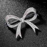 الفاخرة حجر الراين الزفاف القوس عقدة بروش دبوس اللباس شاح دبابيس الزفاف الزفاف باقة دبابيس مجوهرات هدية broches موهير 1